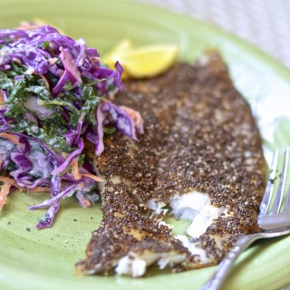 Chia Crusted Petrale Sole with Spicy Veggie Slaw