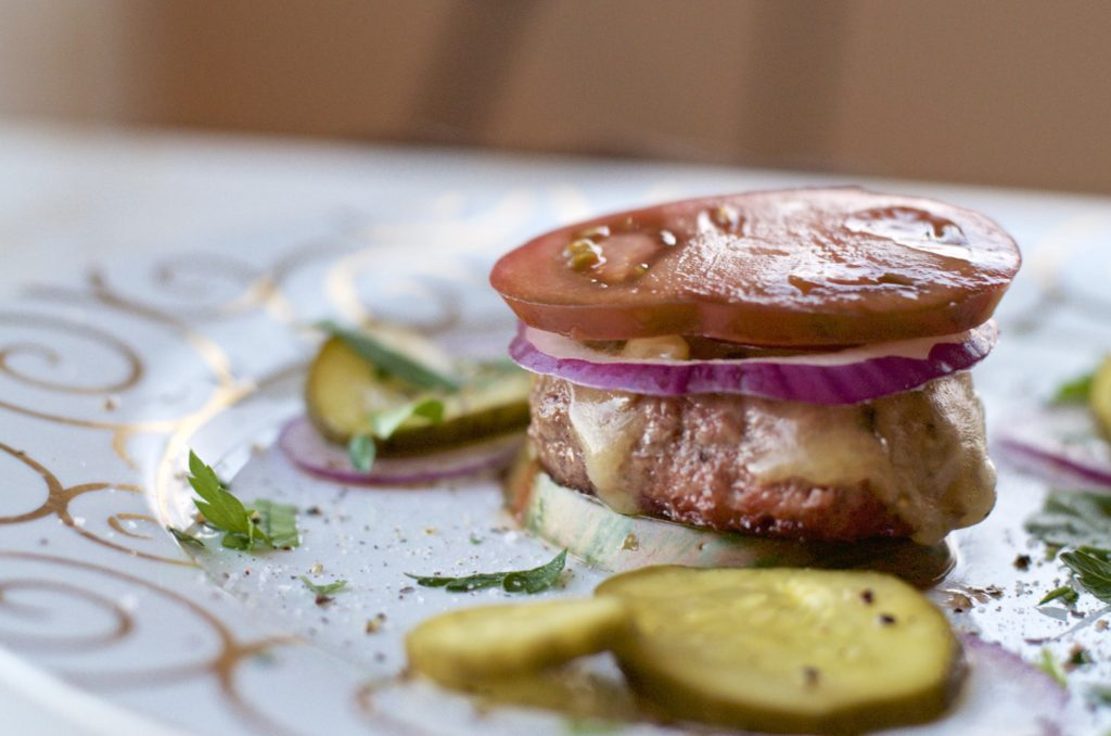 alt=Heirloom Tomato beef slider photo